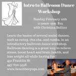 Intro to Ballroom Dance Workshop